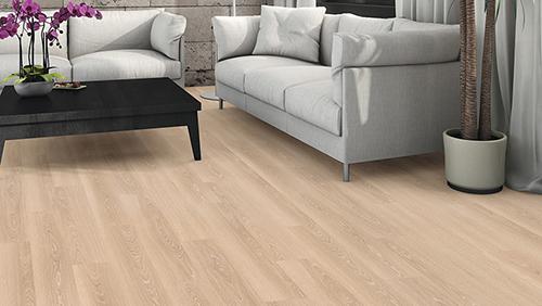 Sol stratifie decor bois - Chêne crème cerusé planche large (tritty100tc) sol stratifié + fin de serie