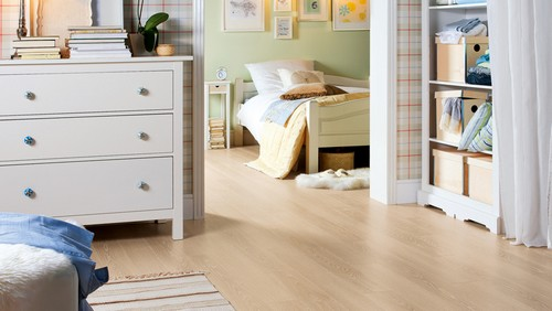 Sol stratifie decor bois - Chêne crème cerusé authentique loft 4v (tritty100) sol stratifié -lot de 9.487 m2