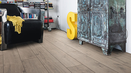 Sol stratifie decor bois - Chene portland gris authentique planche large go-4 (tritty100)