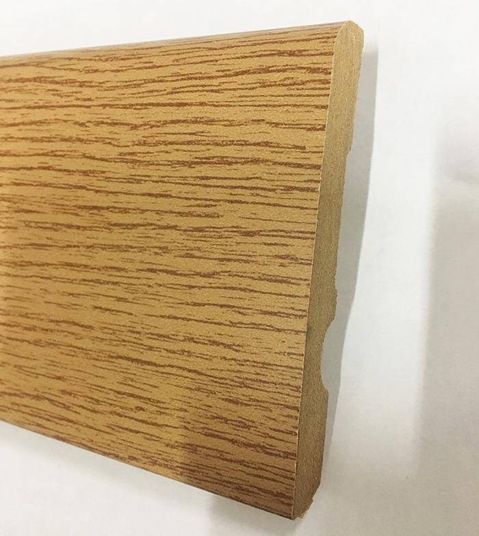 PLINTHE MDF FINITION chêne MIEL 8cm (0620)