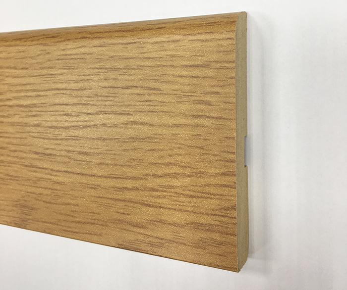 Plinthe de haute qualite - Plinthe mdf finition chene clair 80x12 (1202)