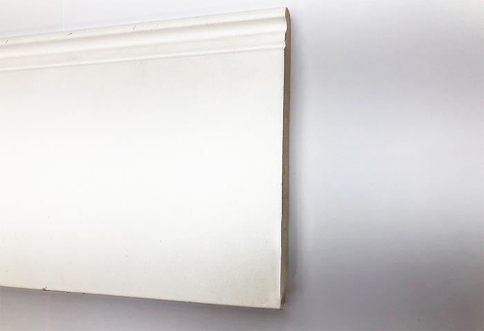 PLINTHE MDF 145x19x2500mm MOULURE BLANCHE - achat-parquet.com