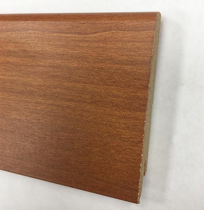 Plinthe de haute qualite - Plinthe mdf jatoba 80x15 dinachoc p804  - certifié pefc 70% fin de serie