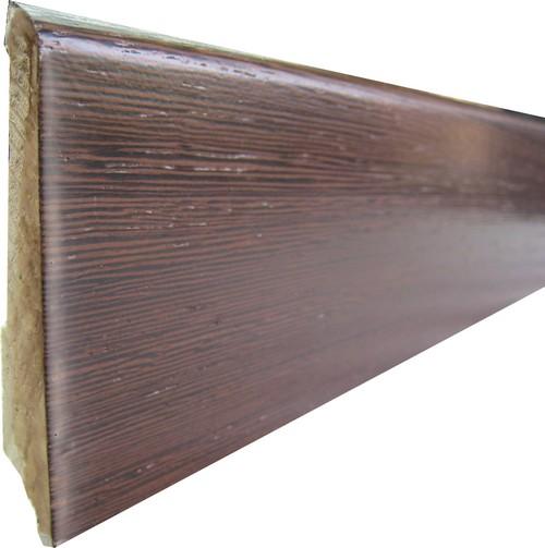 Plinthe de haute qualite - Plinthe double essence placage wengé verni 8cm 334/108