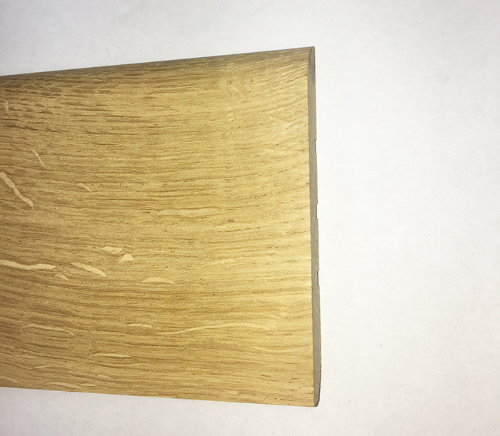 PLINTHE chêne MASSIF BRUT 100 x14mm