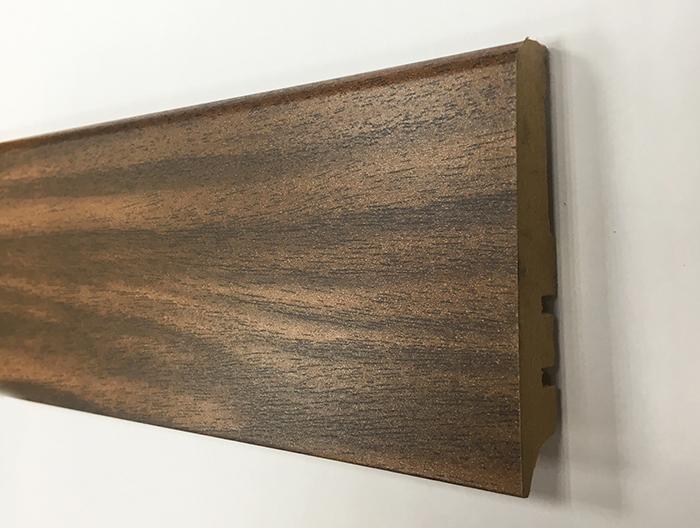 Plinthe de haute qualite - Plinthe mdf finition noyer 80x15 (0250)