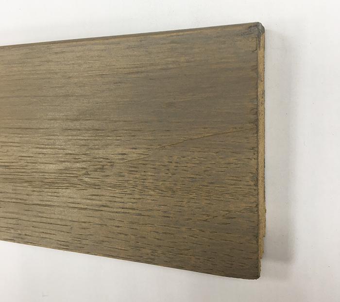 Plinthe de haute qualite - Plinthe chêne massif huilé assortie capuccino 90x15x2400