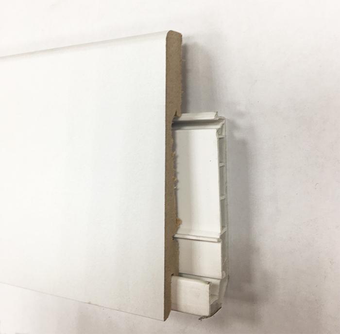 Plinthe de haute qualite - Plinthe electrique dinachoc avec goulotte blanc satine a peindre