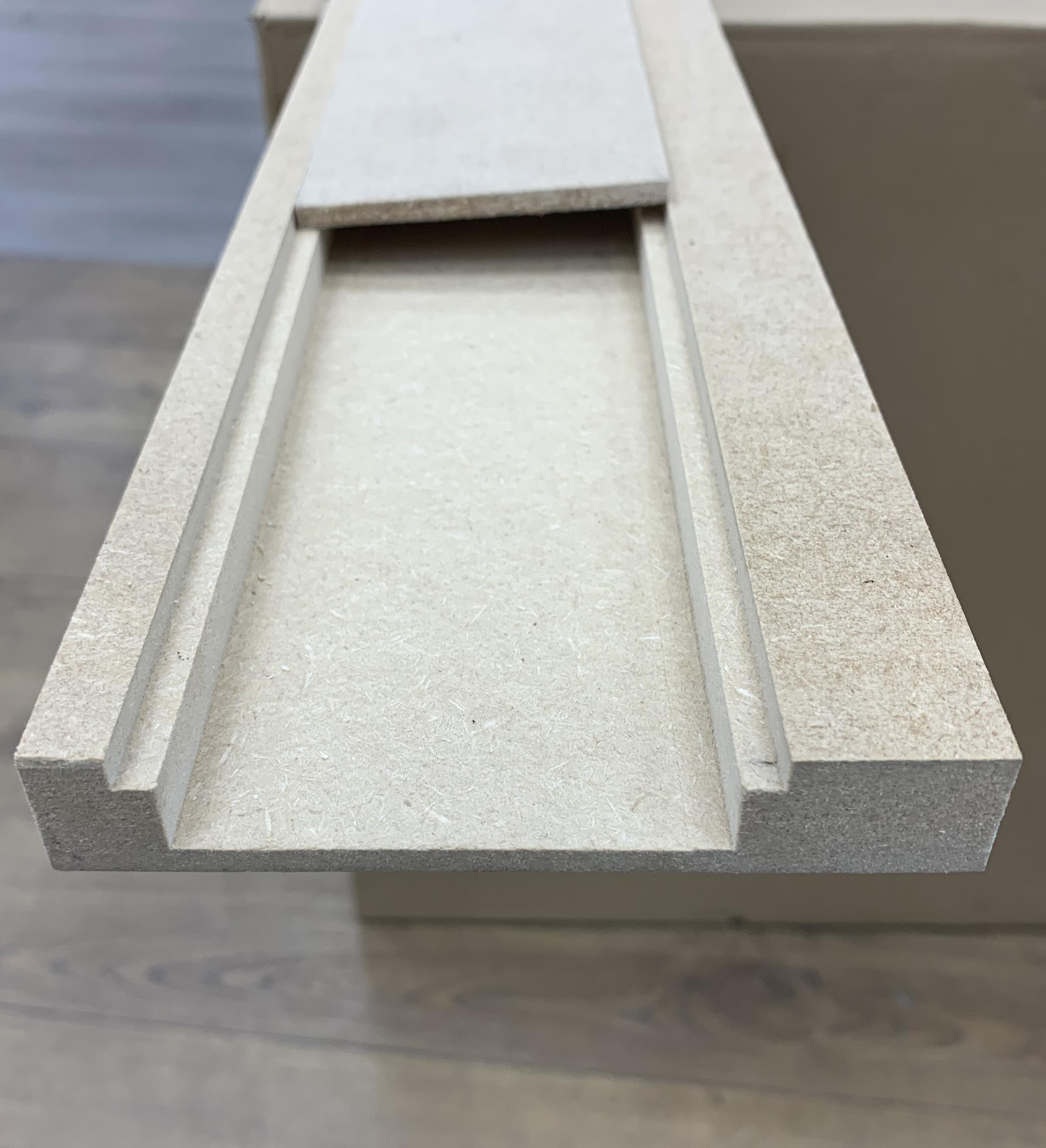 Plinthe de haute qualite - Plinthe electrique dinachoc passe cable mdf brut19x110x2430mm