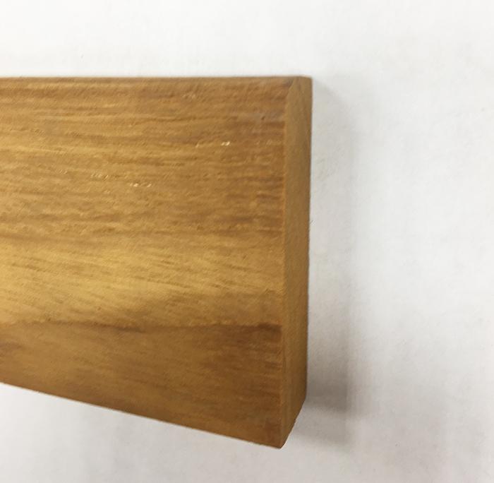 PLINTHE TECK MASSIF BRUT Aboutée 65X15