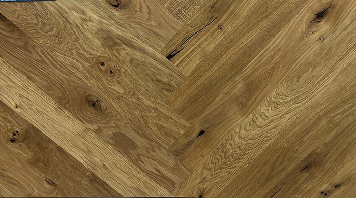 Parquet flottant chêne huilé - Baton rompu chene contrecolle classic rustique huile 120x10 l1000<br /> (compatible avec sol rafraîchissant) - certifié pefc 70%