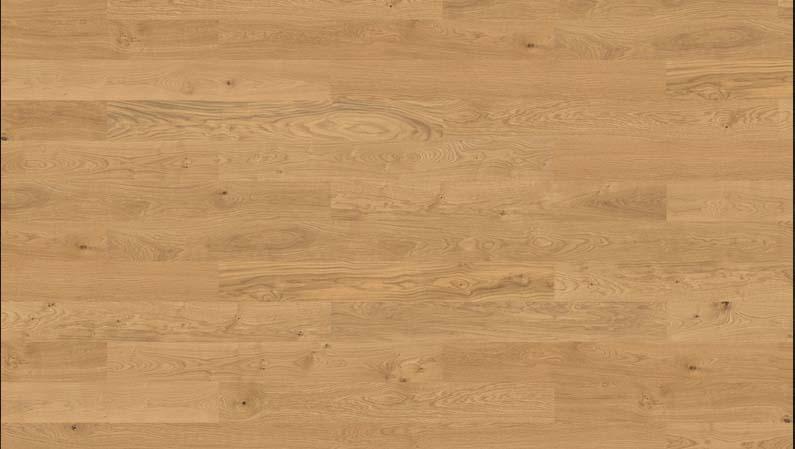 Parquet flottant chêne verni - Baton rompu chene contrecolle champ de ble authentique verni brosse 120x10 l1000<br /> (compatible avec sol raffraîchissant) - certifié pefc 70%