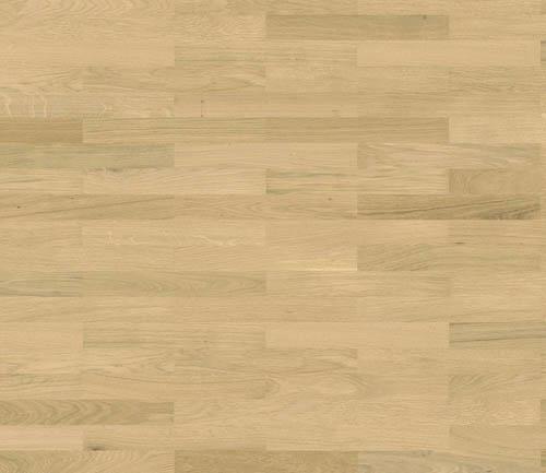 Parquet flottant chêne verni - Baton rompu chene contrecolle blanc clair authentique verni brosse 70x10 l490<br /> (compatible sol raffraîchissant) - certifié pefc 70%