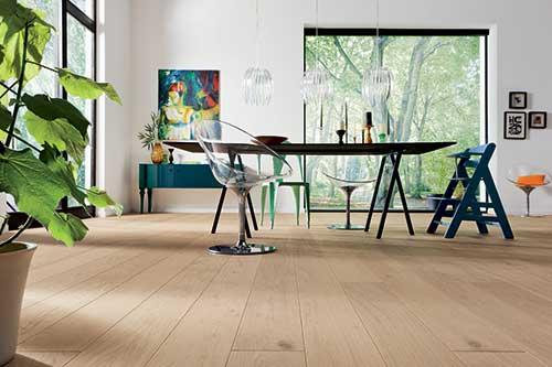 Parquet massif chêne huile - Chêne massif rustica plus huilé natural 150x15mm