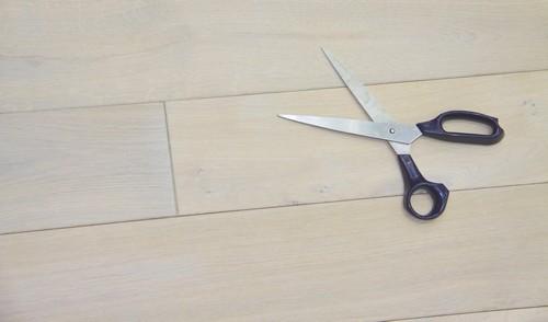 Lots fin de série - Chêne massif huilé blanc rustique 125x14mm lot fin de serie 3.30m²<br />