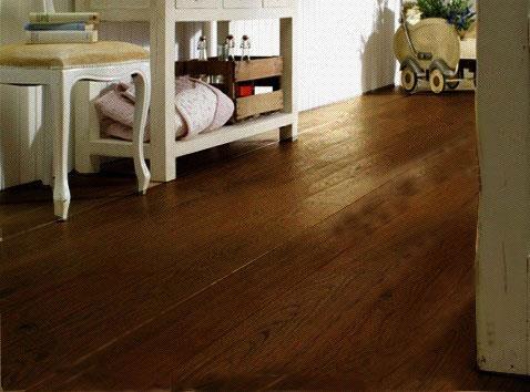 Chêne massif rustica castel choco huilé brossé 150x15mm - certifié pefc 70%