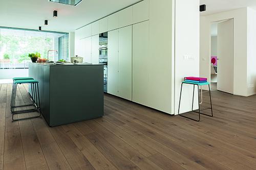 Chêne massif rustica plus huilé brossé capuccino 120x15mm - certifié pefc 70%
