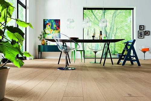 Parquet massif chêne huile - Chêne massif rustique huilé brossé invisible120x20mm go-4 - certifié fsc 100 %