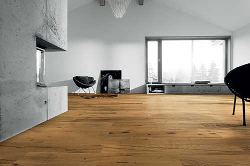 Chêne massif rustique huile brosse new sunly 140x15- certifié fsc 100 %