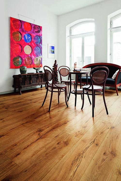 Chêne massif rustique huile brosse puro 160x20.4x600-1800 mm - certifié fsc 100 %
