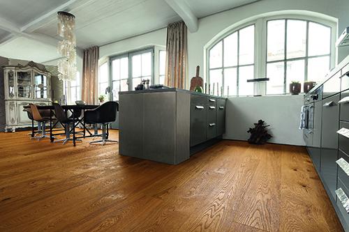 Chêne massif rustique huile brosse marron brown 160x15mm certifié fsc 100 %