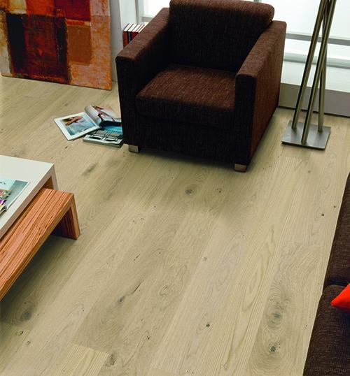 Parquet massif chêne huilé - Chene massif huile brosse aspect bois brut 120x15mm certifié fsc 100 % lot de 5.55m²<br />