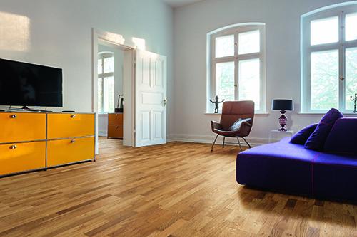 CHENE MASSIF VERNI LISSE PR BIS 70x14x400 ET 500 GO 4 - Certifié FSC 100 % - Parkett.fr