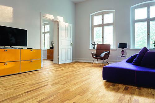 PARQUET CHENE MASSIF VERNI LISSE RUSTIQUE 70x14X500 - Certifié FSC 100 % - Parkett.fr