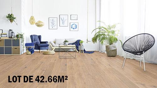 Parquet flottant chêne huilé - Chene contrecolle rustique huile mat antique rossel 145x14,2x1825mm<br />