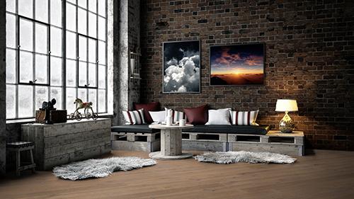 Parquet flottant chêne huilé - Chene contrecolle rustique huile mat antique rossel 90x14,2x1825mm<br />