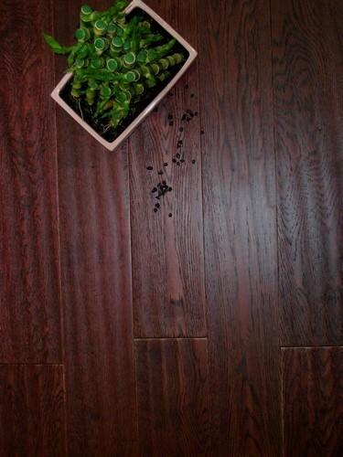 Chêne contrecollé verni BORDEAUX 122x14 lot fin de série