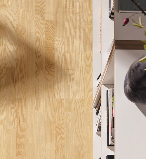 Contrecollé flottant - Frene contrecolle 3 frises rustique verni lisse 190x13.5x1825mm
