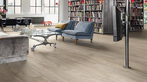 Sols stratifiès - Shabby oak planche large soft mat tt90sol stratifie haro