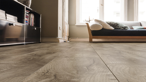 Sol en liège - Liege shabby oak gris design arteo xl 4v- brosse