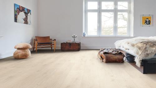 Sol stratifie decor bois large - Chene savona blanc pl tt90 sol stratifie haro