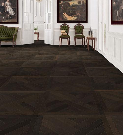 DALLE CHENE FONCE DESIGN ST ANDREW -Certifié PEFC 70% (65X65 = 0.42m²) VENDU PAR PIECE - achat-parquet.com