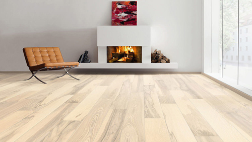 Parquet pour votre chambre ou séjour en bois, massif, contrecollé flottant ou stratifié en Frêne - Frene contrecolle naturadur blanc sable universal brosse -5g- serie 4000 - certifié pefc 70%