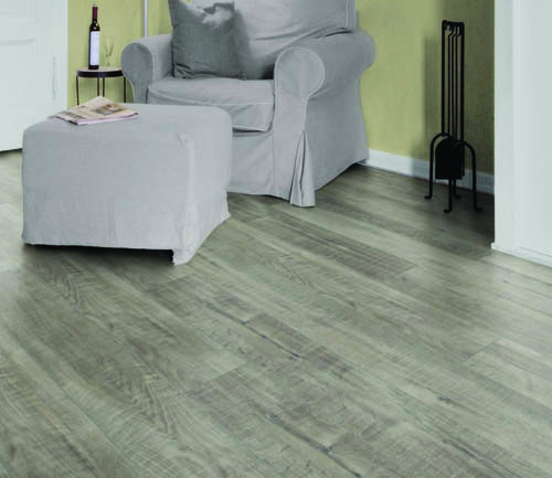 Sol stratifie decor bois - Chene stratifie gala gris 1 frise - gamme exquisit- 1380mmx193mmx8mm - certifié fsc mix credit