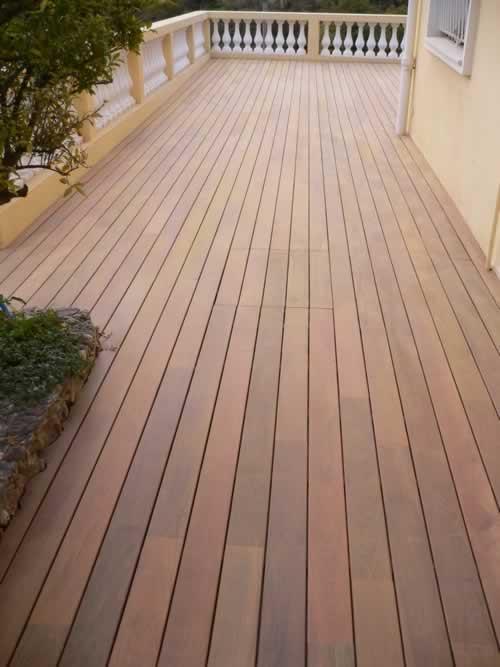 Pour la décoration de vos extérieurs, grandes largeurs, bois exotique de haute résistance