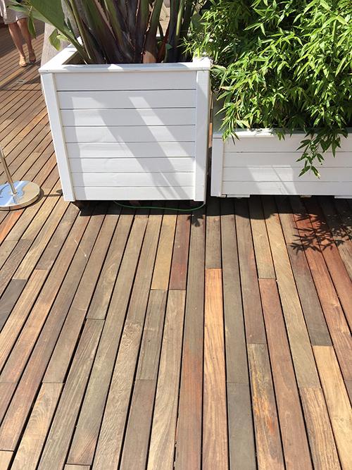 Lame de terrasse ipe brut lisse 2 faces 145x21 l1577