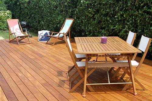 Lames de terrasse bois massif - Lame de terrasse en teck lisse select a clipser 1200 a 2200