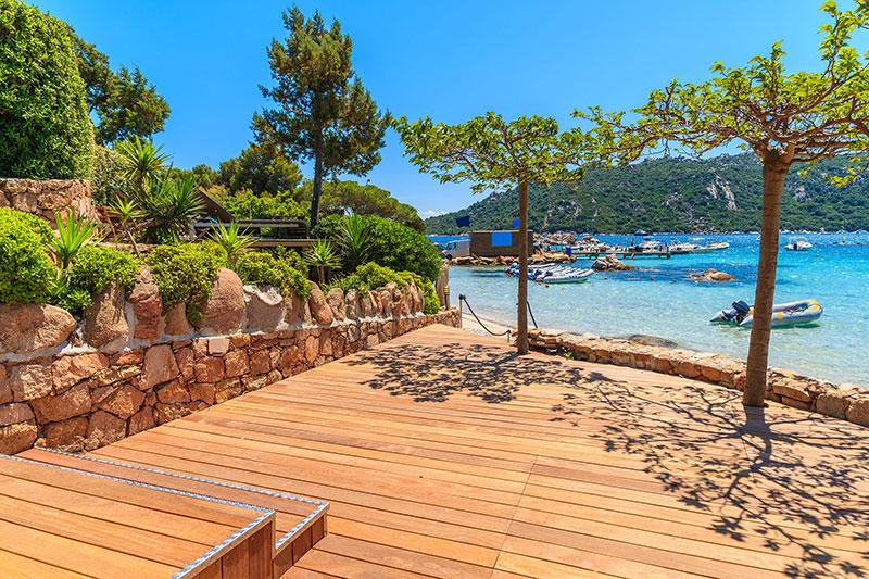 Lames de terrasse bois massif - Lame de terrasse teck prestige 1 face lisse a clipser 120x19mm
