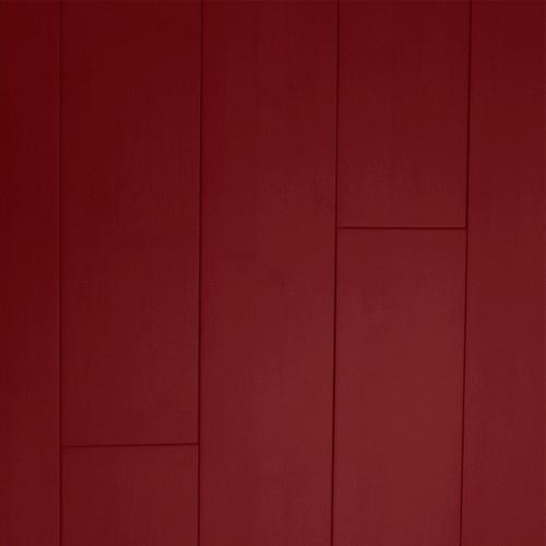 Bambou massif horizontal verni teinté ROUGE FEU 960x96x15 lot fin de série