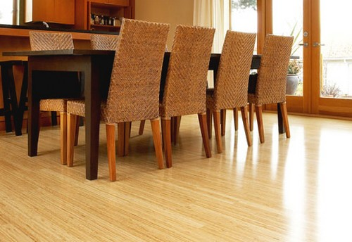 Parquet bambou massif - Bambou massif verni select vertical clair 96x15