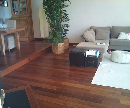 Parquet massif exotique verni - Merbau massif majestic fashion 90*15 go 4 300-1200