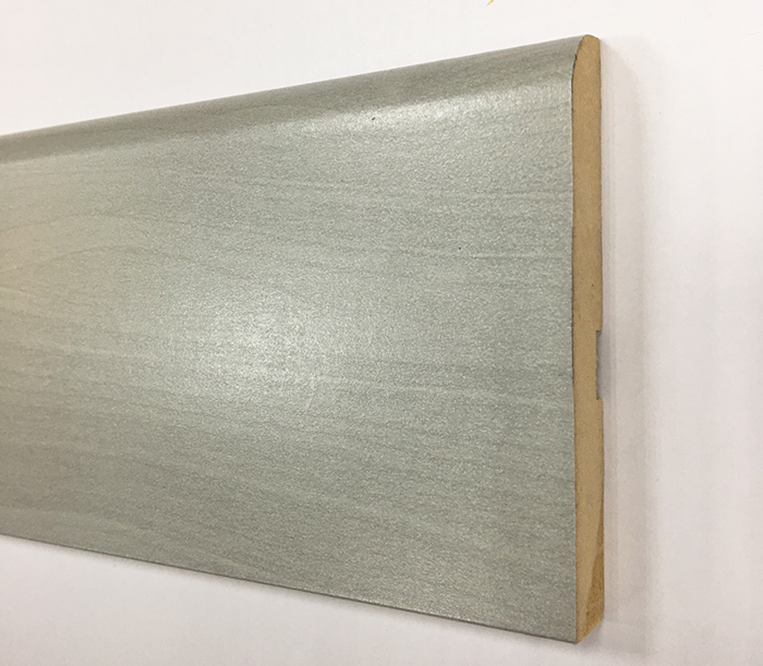 PLINTHE MDF FINITION GRIS 8cm LOT 80x12