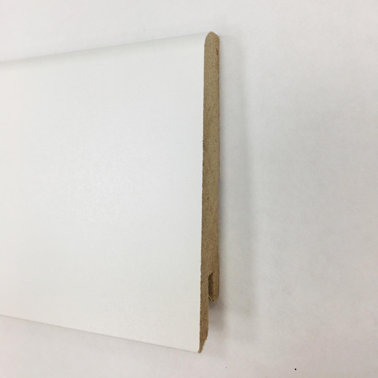 Plinthe de haute qualite - Plinthe mdf blanc 80x15 dinachoc p801 - certifié pefc 70%