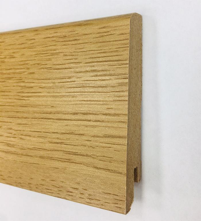Plinthe de haute qualite - Plinthe mdf chene 80x15 dinachoc p802 - certifié pefc 70%