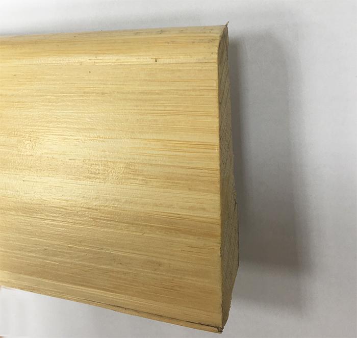 PLINTHE DOUBLE ESSENCE PLACAGE BAMBOU CLAIR VERNI 8cm (330)