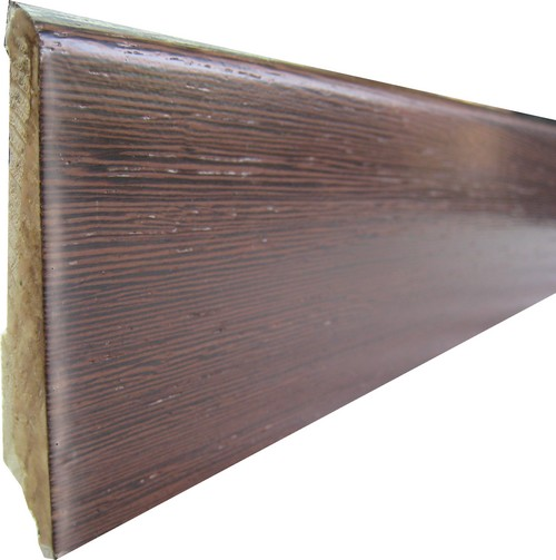 PLINTHE DOUBLE ESSENCE PLACAGE wengé VERNI 8cm 334/108